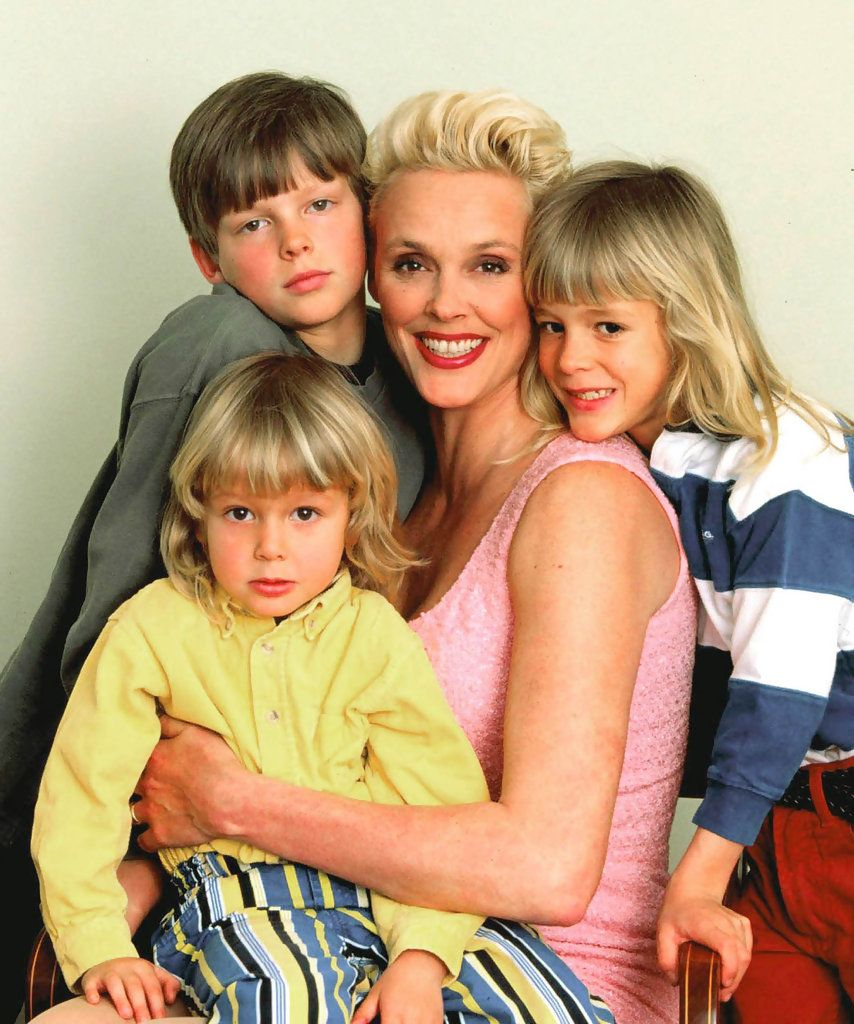 Brigitte Nielsen with her three oldest sons