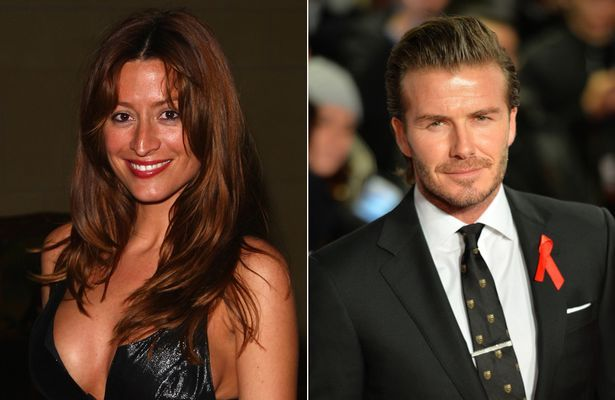 Rebecca Loos and David Beckham