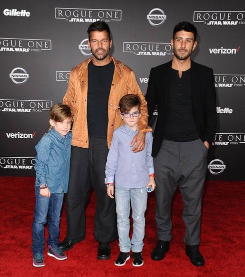 Ricky Martin and his family