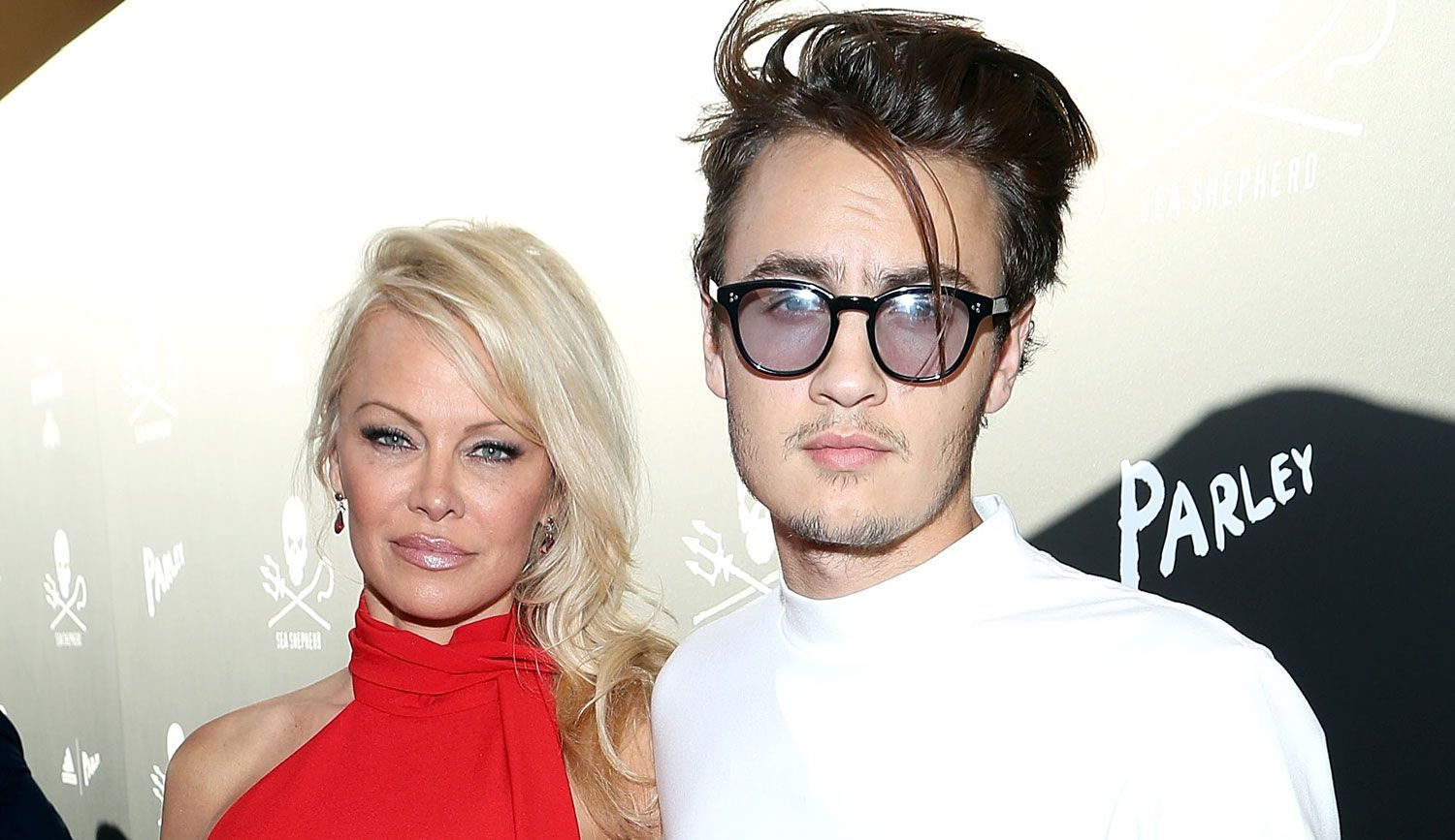 Tommy Lee with Pamela Anderson