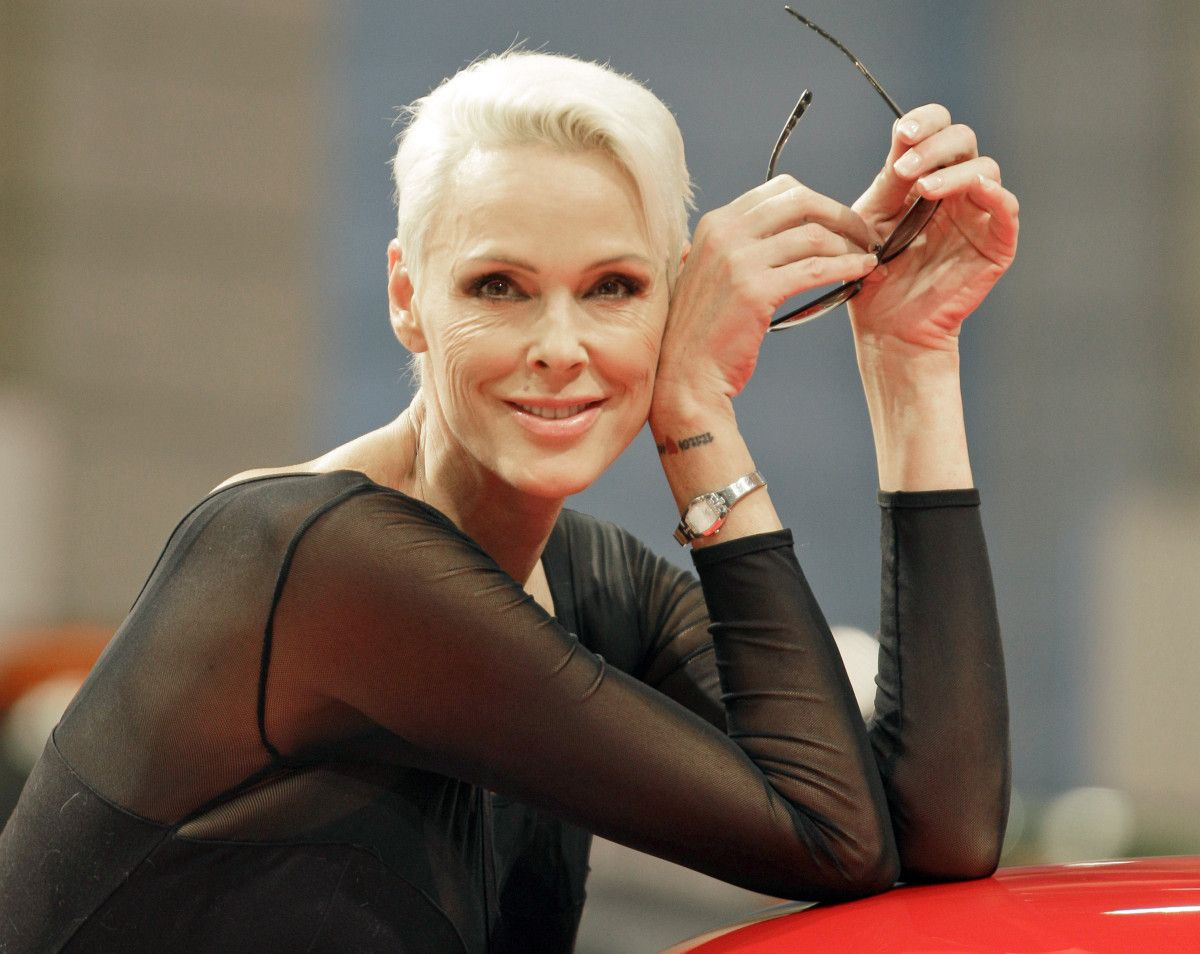 Brigitte Nielsen showing off her baby bump