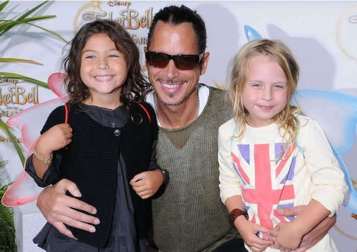 Chris Cornell with his youngest children,Toni and Christopher
