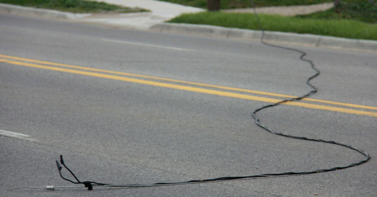 A fallen power line