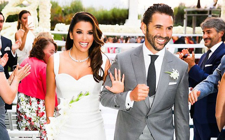 Eva Longoria on her wedding day.