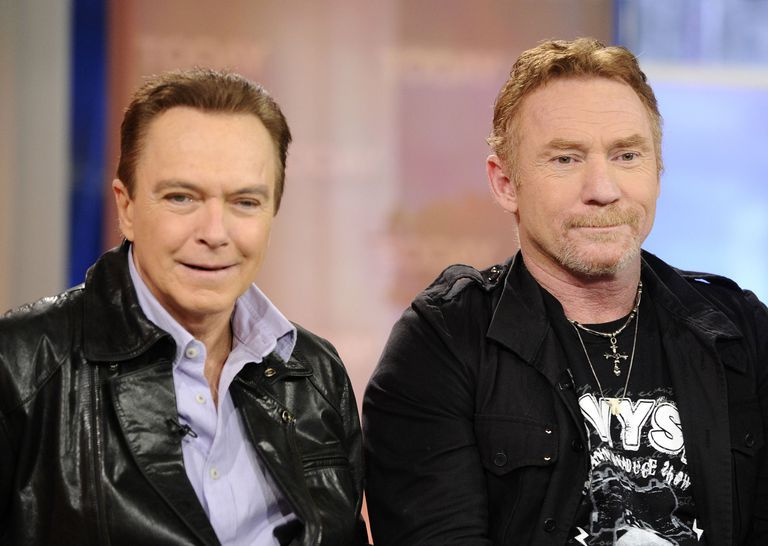 David Cassidy and Danny Bonaduce during an interview.