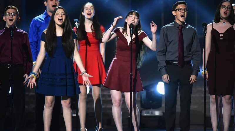 """The Parkland students performing """"Seasons of Love"""" from the musical Rent."""