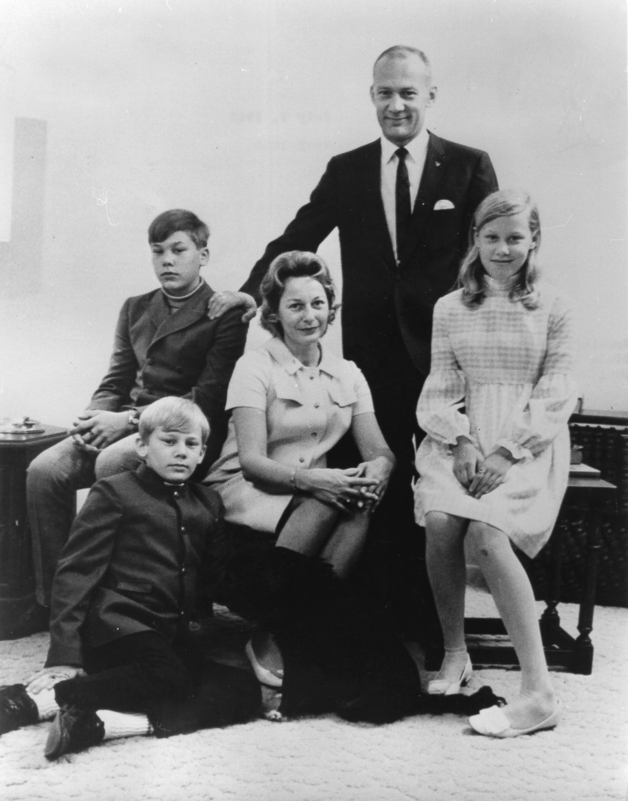 Buzz Aldrin and family