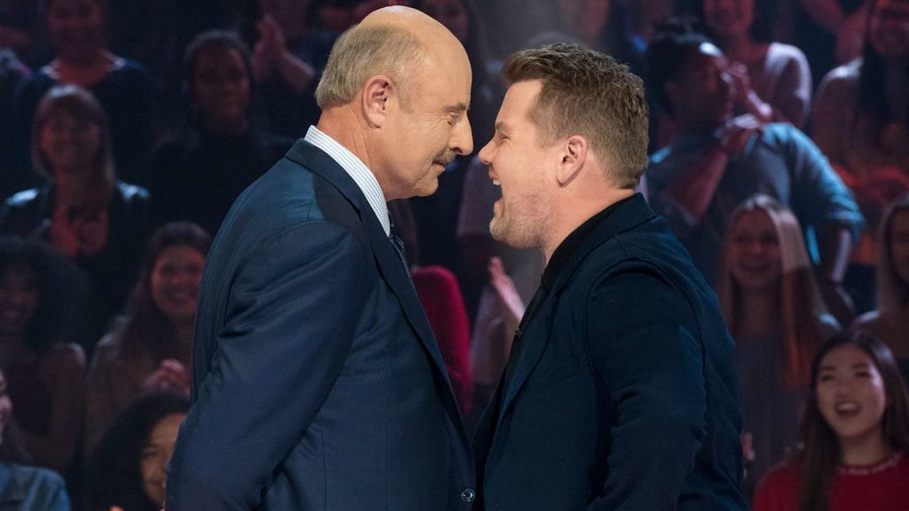 Dr  Phil And James Corden Go Head-To-Head In A Vicious Rap Battle