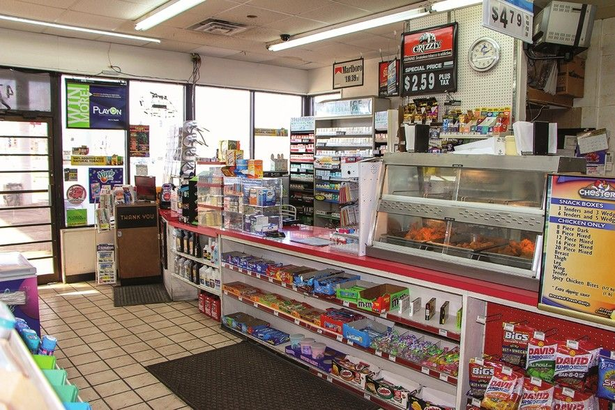 The inside of the convenience store