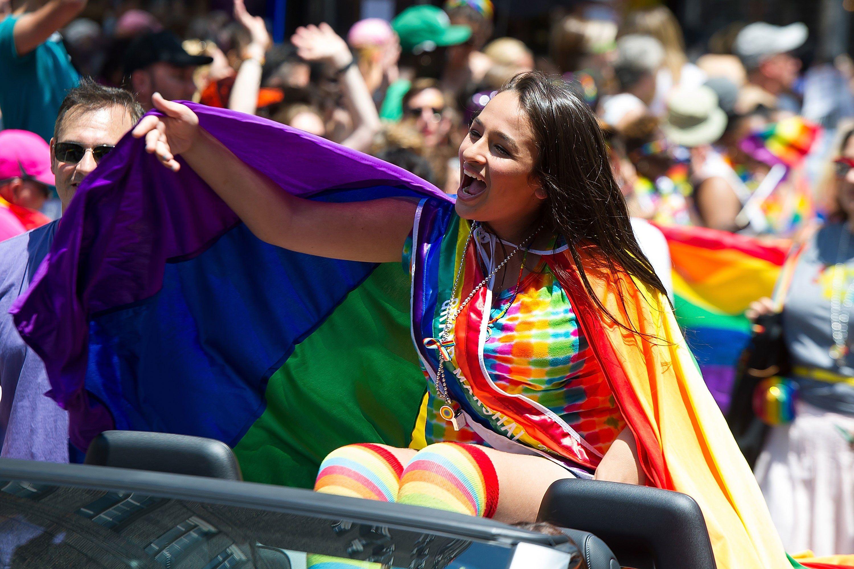 Jazz Jennings at a Pride Parade