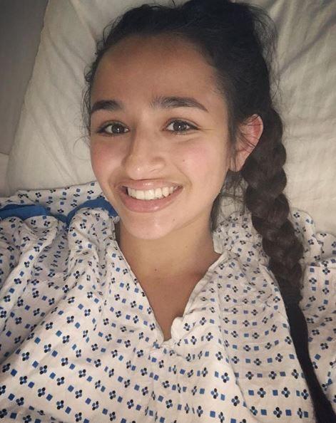 Jazz Jennings in a hospital bed