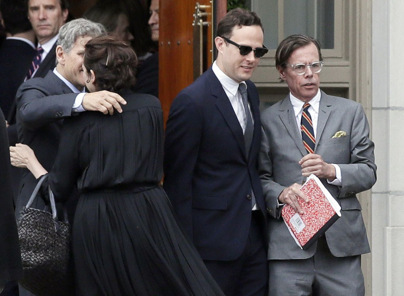 Kate Spade's husband at the funeral