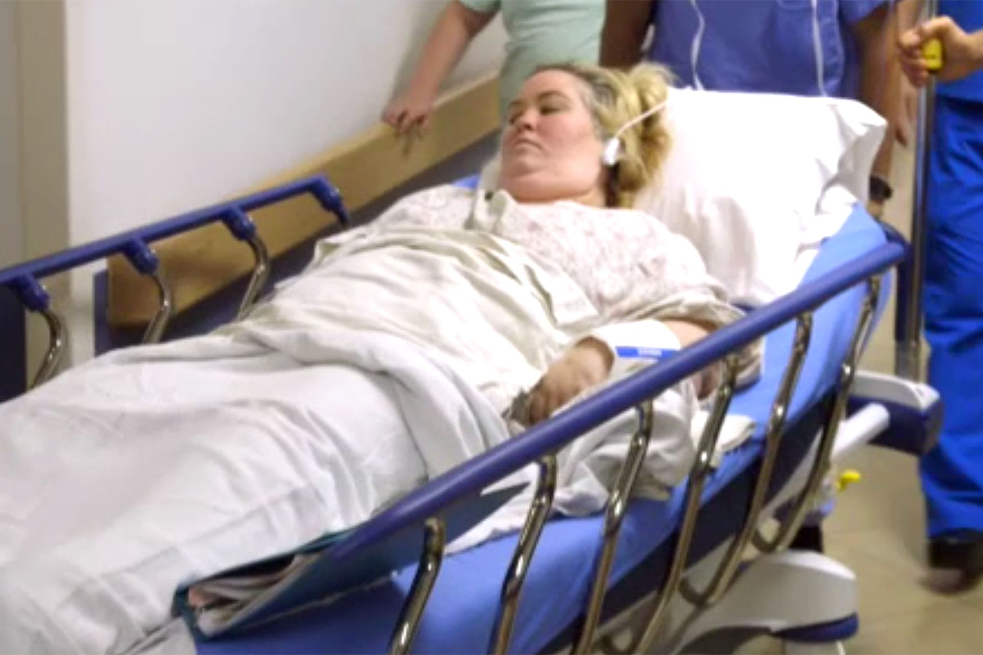 Mama June in a hospital bed