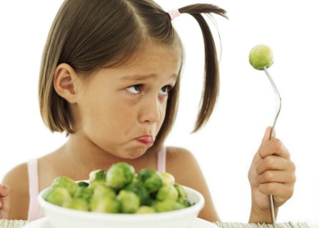 A girl and her brussels sprouts