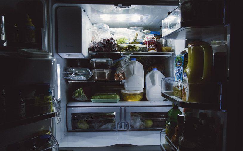 An open fridge