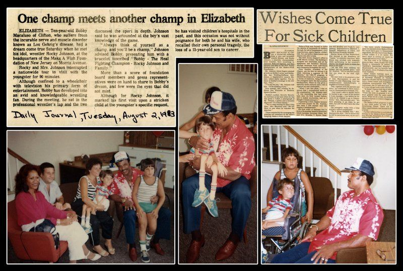 A newspaper clipping celebrating Rocky Johnson