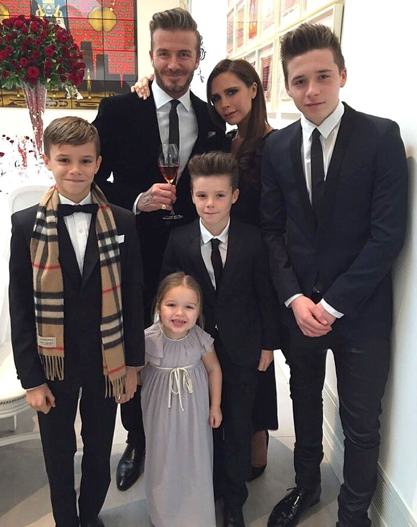 The entire Beckham family