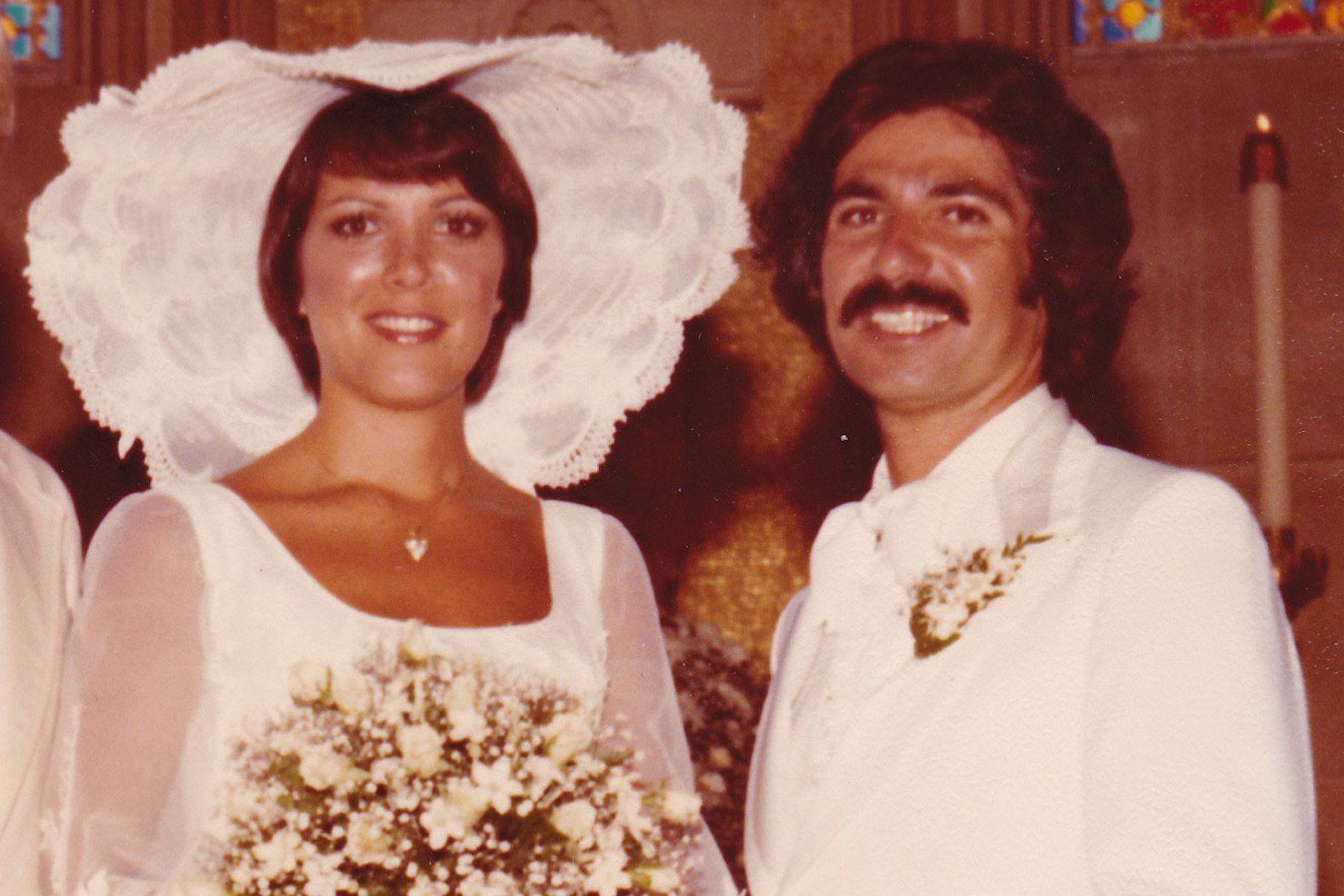 Kris Jenner and Robert Kardashian Sr. on their wedding day