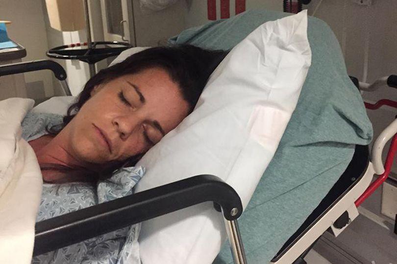 Amanda Stanley in the hospital