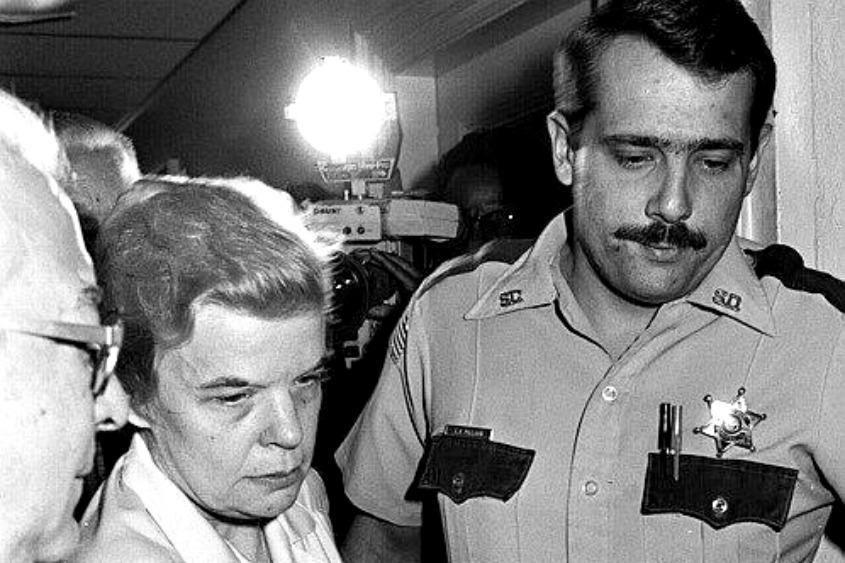 Marybeth Tinning with a deputy