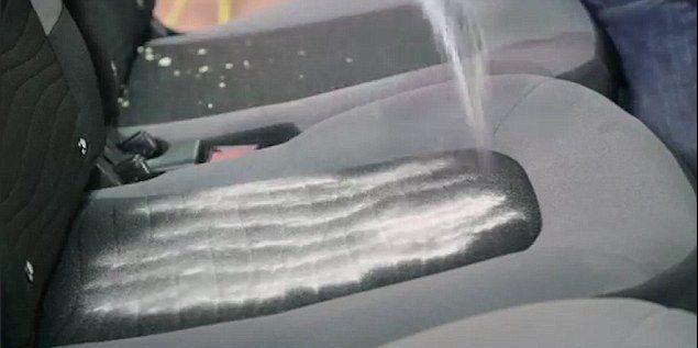 Baking Soda on Car Seat
