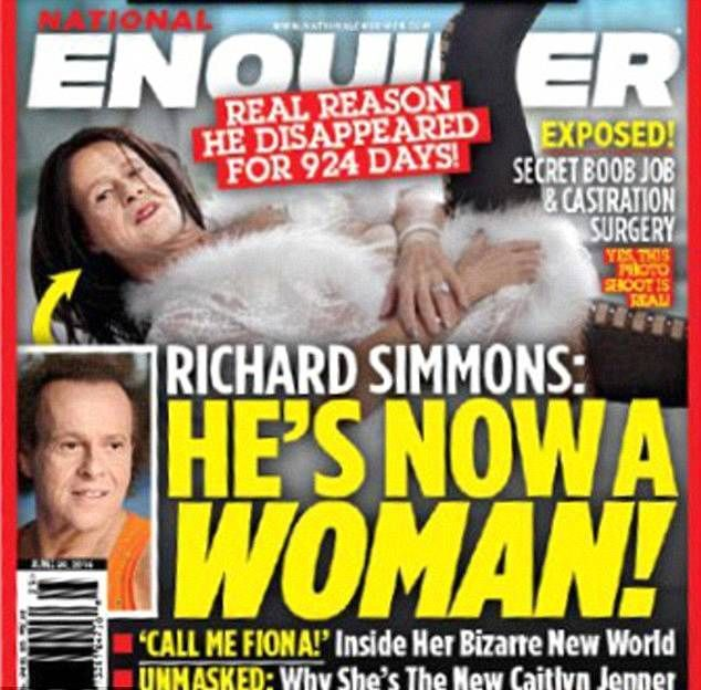 National Enquirer Richard simmons