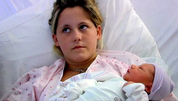 Jenelle and baby Jace