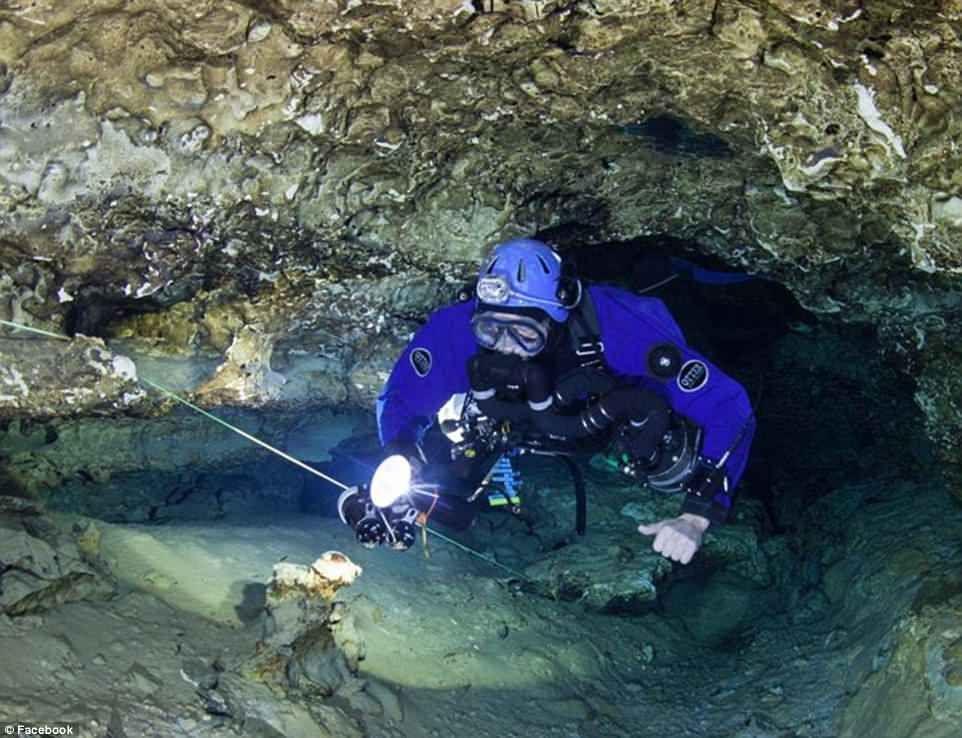 Dr. Richard Harris scuba diving
