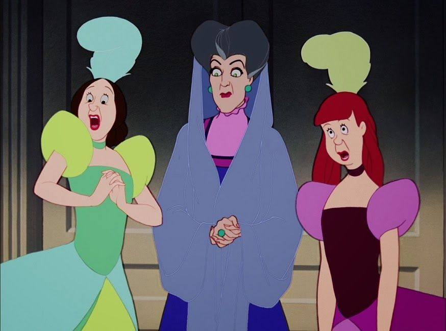 Cinderella's step mother and step sisters