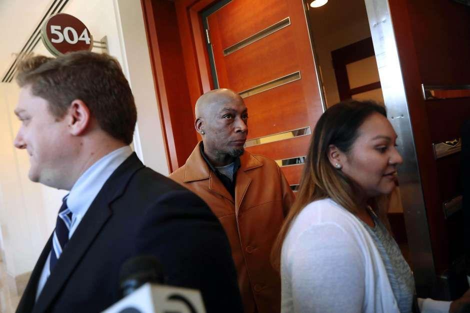Dewayne Johnson arriving to court