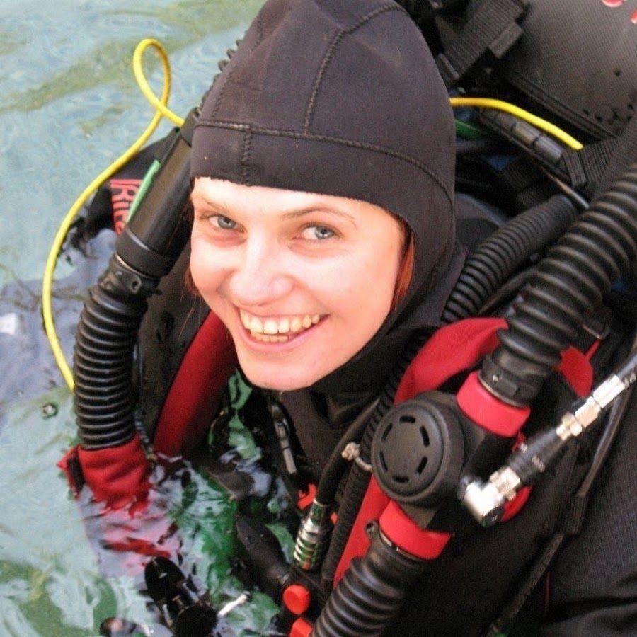 Agnes Milowka in her scuba gear
