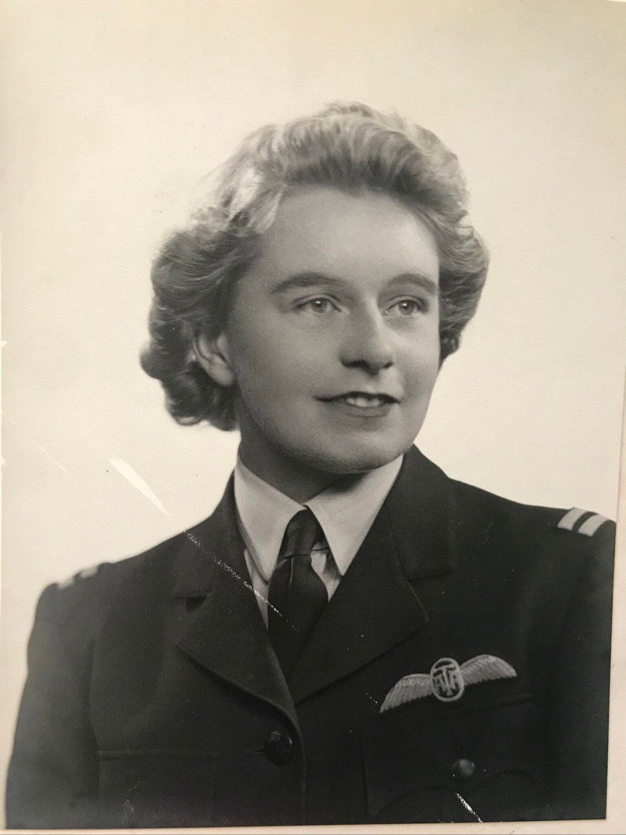 Mary Ellis in her uniform
