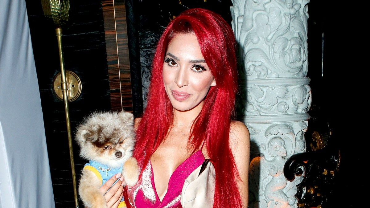 Farrah and her dog Blue