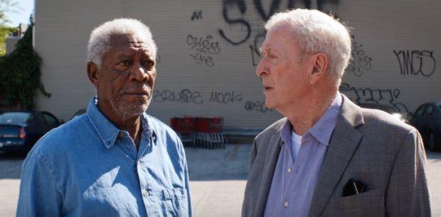 "Alan Arkin and Morgan Freeman in ""Going In Style"""