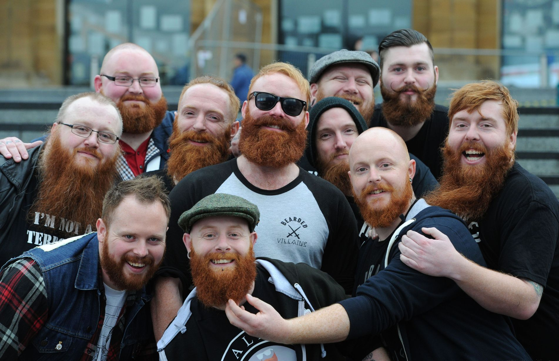 Many men with beards