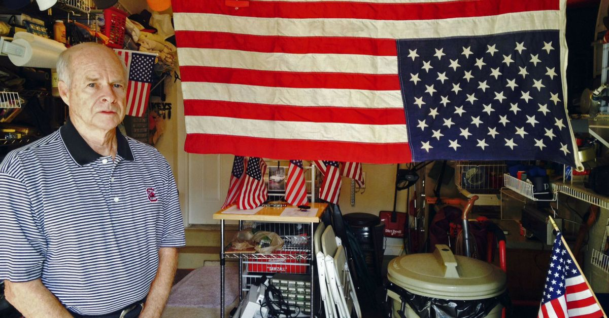 Larry Murphree and his flags