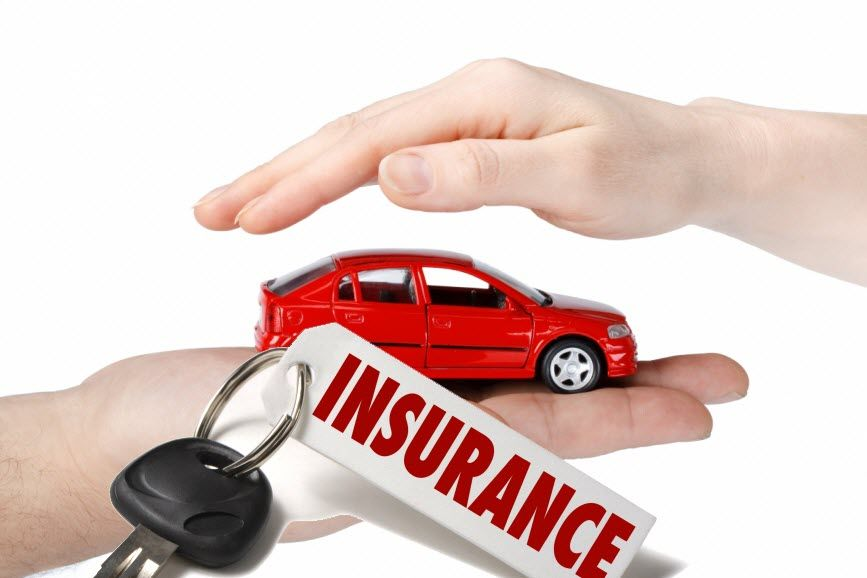 Car insurance in palm of hand