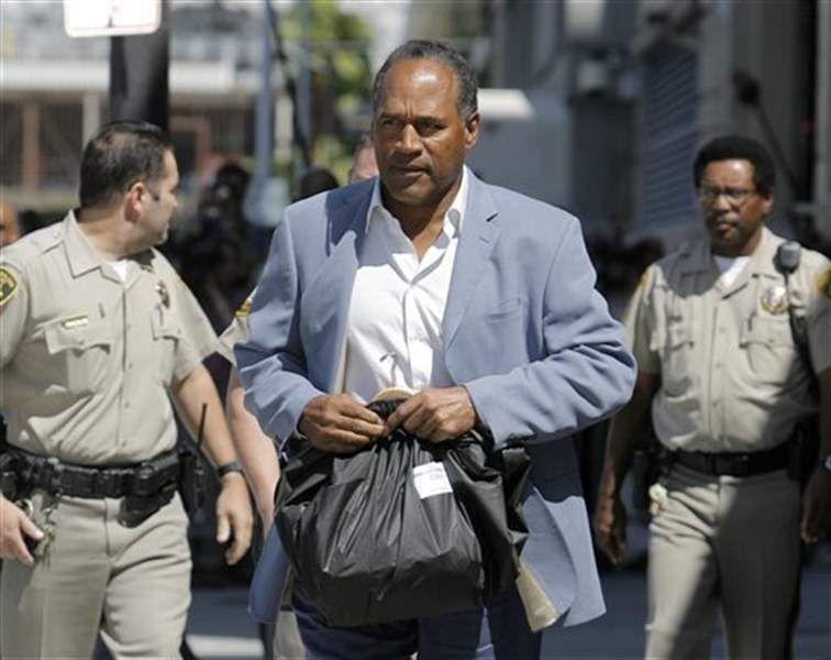 OJ Simpson leaving jail