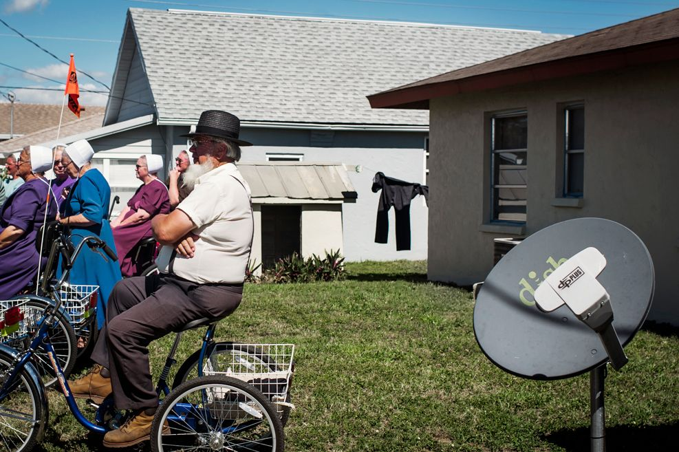 The Amish with a satellite dish
