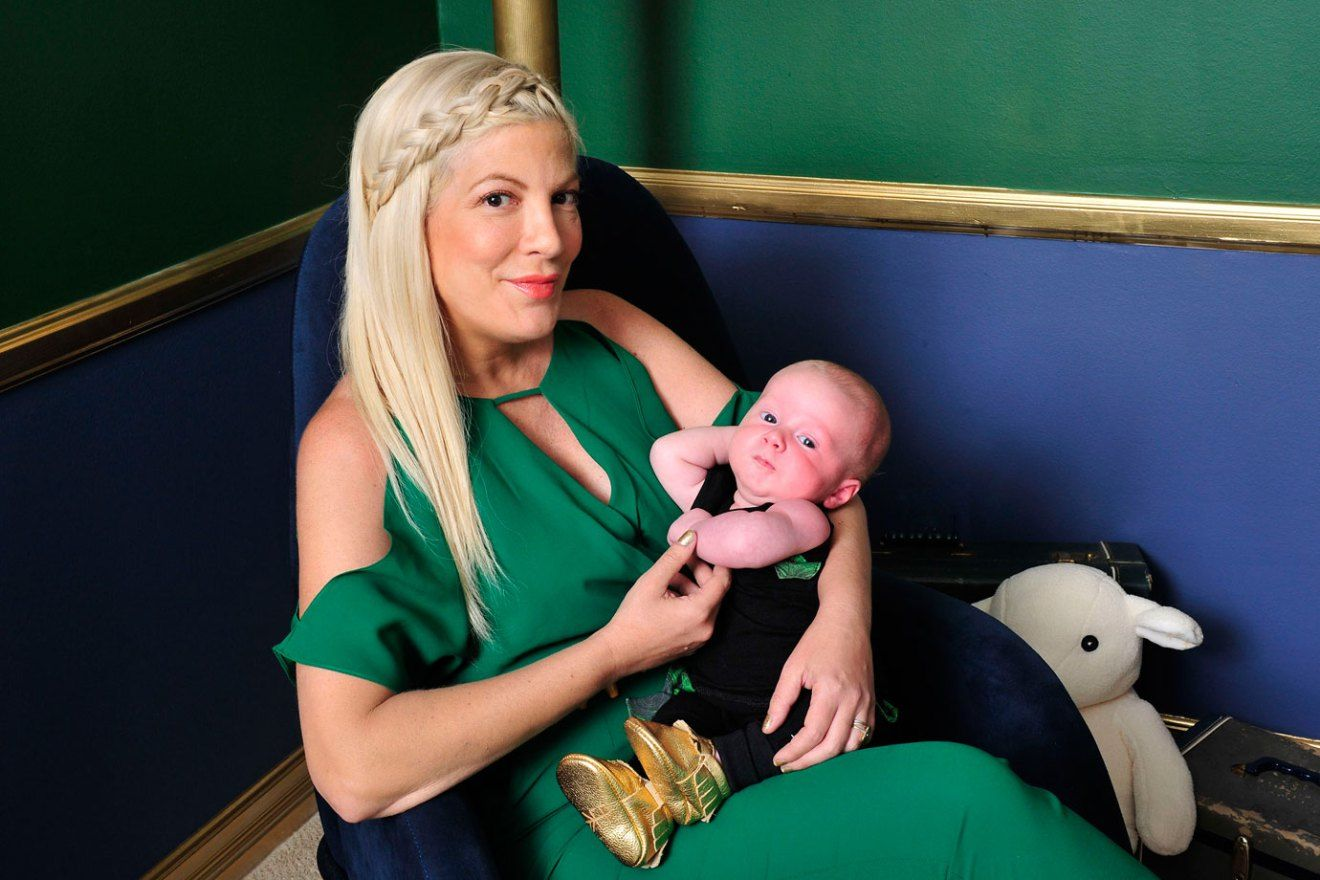 Tori Spelling and Beau