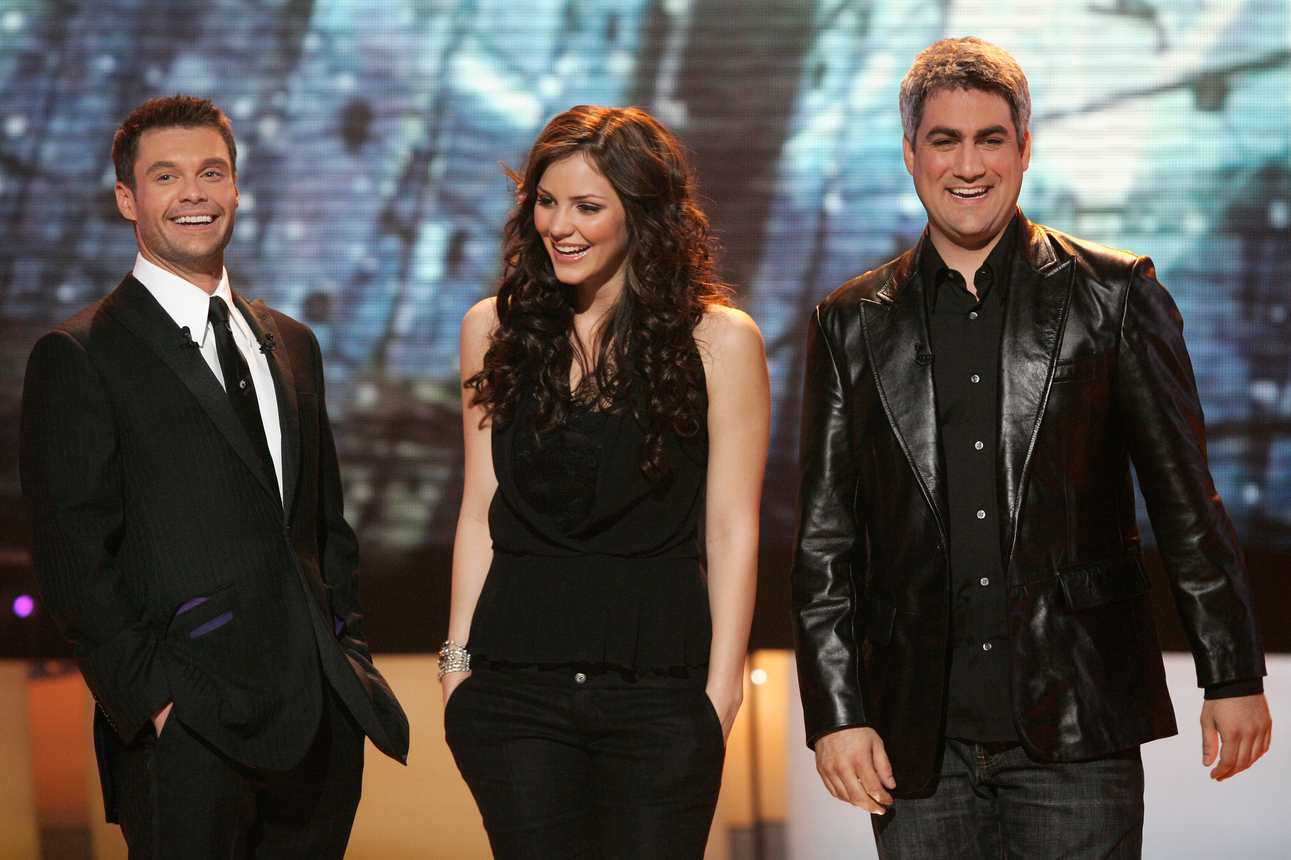 Ryan with Katherine McPhee and Taylor Hicks