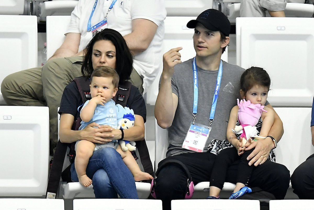 Mila Kunis with her family