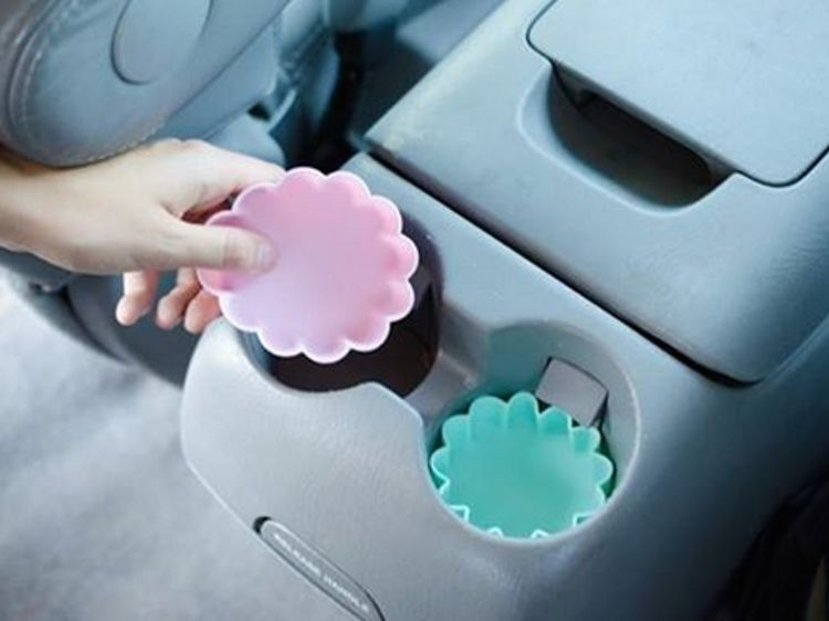 Cupcake wrappers in cupholders