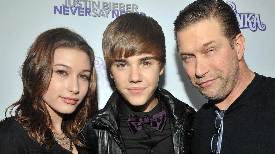 Hailey Baldwin, Stephen Baldwin and Justin Bieber