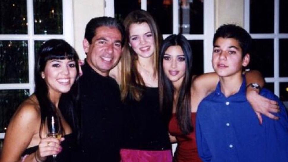 Robert Kardashian Sr. with his children