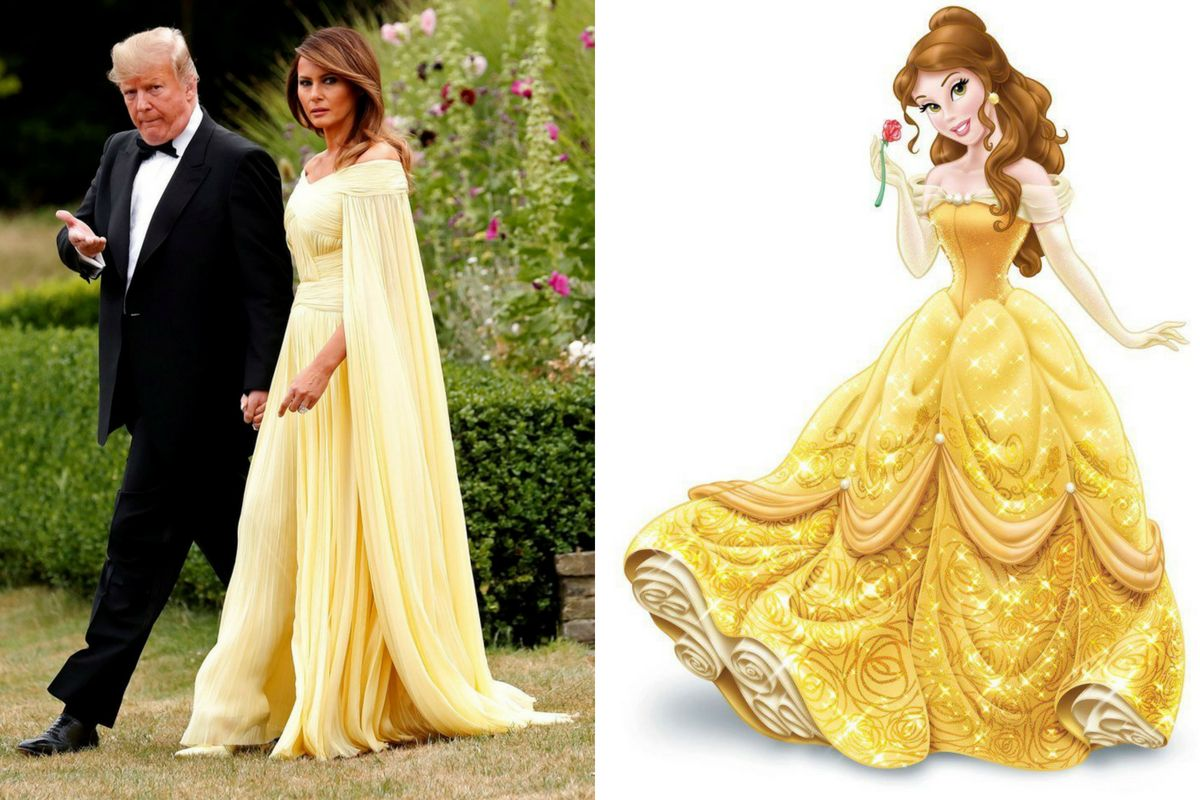 Melania Trump and Belle