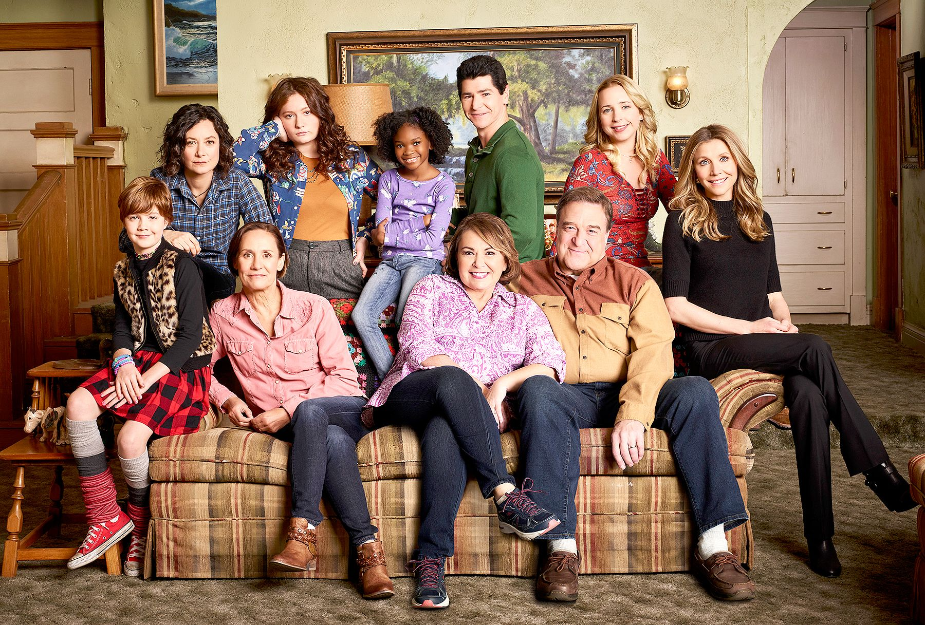 "The cast of ""Roseanne"""