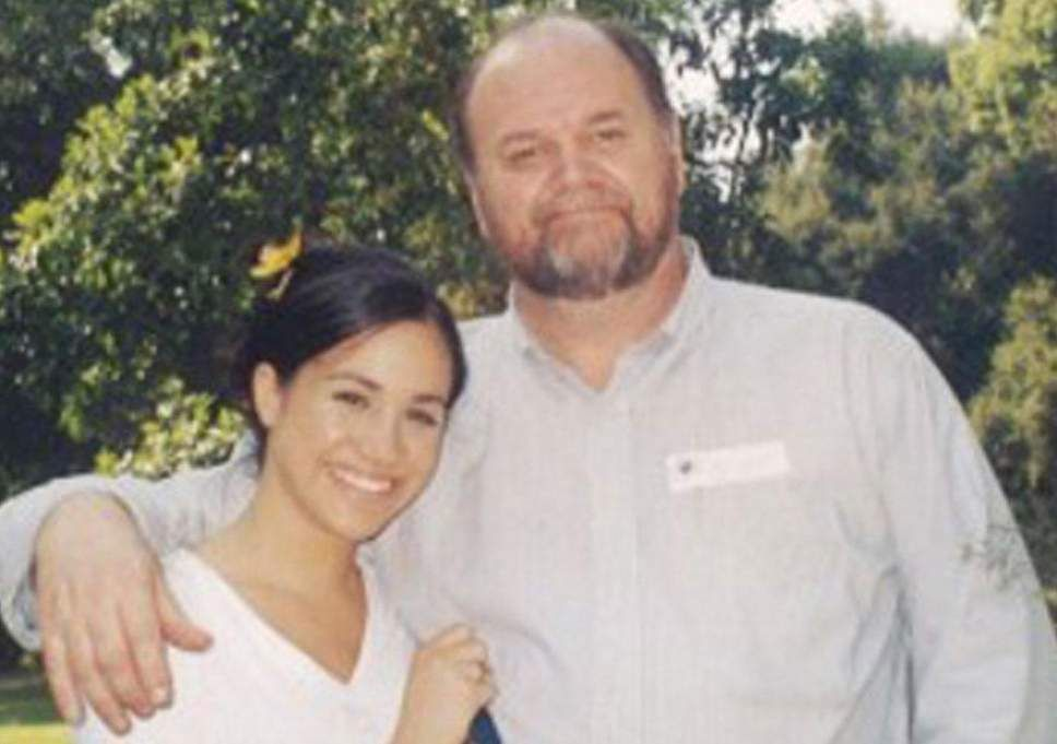 A young Meghan Markle and her father