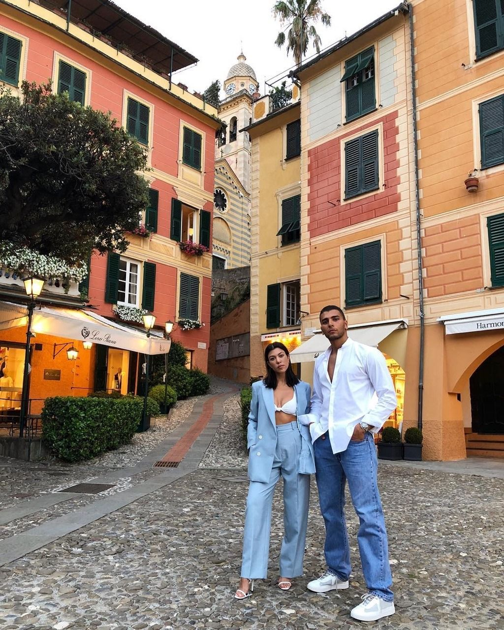 Kourtney and Younes in Italy