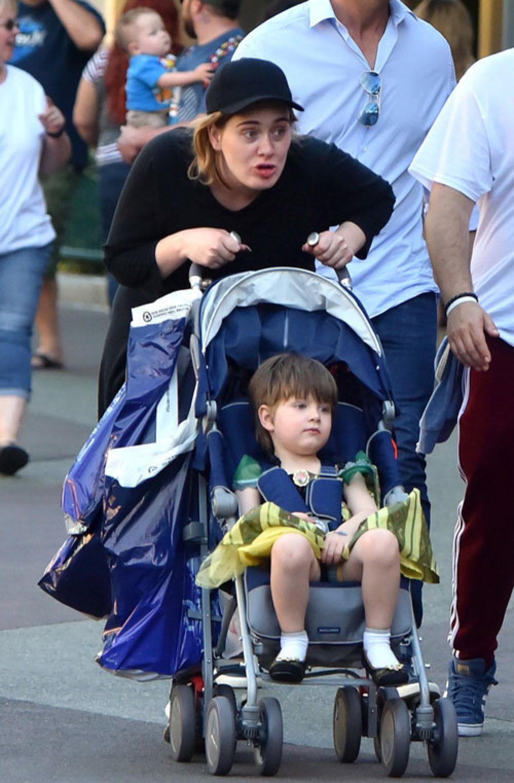 Adele and her son